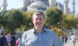 Matt C Bennett at the Blue Mosque